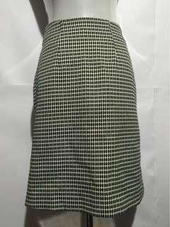 B&W Knee-length Skirt
