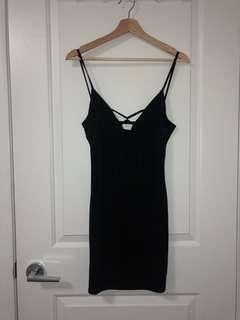 M boutique black dress //small