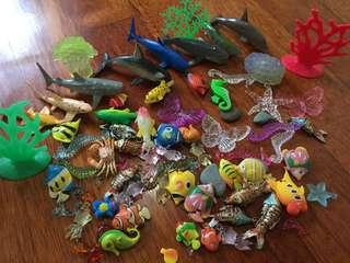 Marine fishes & sea corals bundle