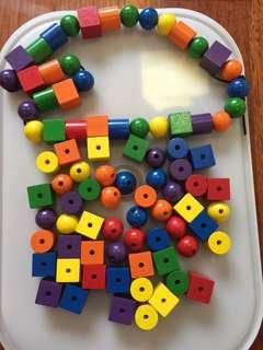 Wooden blocks & beads