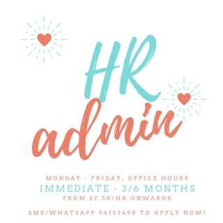 Looking For: HR Admin Assistant  *Immediate - 3/6 months*