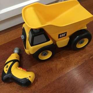 CAT toy truck with battery operated tool