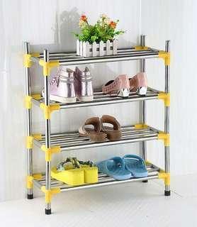 Stainless steel shoe rack Shoe cabinet shelf rack