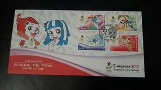 First Day Cover - Singapore 2010 Youth Olympic Games (Date of Issue: 14 Aug 2010)