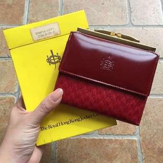 RARE JOCKEY CLUB Red leather Wallet
