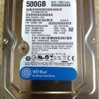 500 GB HARDDRIVE SATA