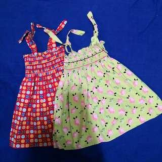 Smocked Dress - Set of 2 (12-18M)