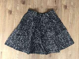 M)phosis black & white skirt