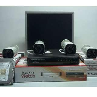 SMARTRWATCH 4 CAMERA PACKAGE W/ LCD MONITOR