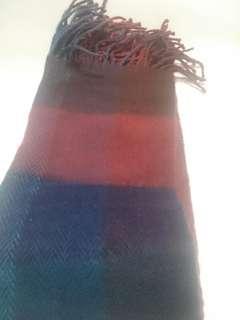 三越格子圍巾