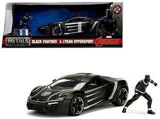 Jada Toys Hollywood Rides 1:24 Lykan Hypersport w/ Black Panther Figure