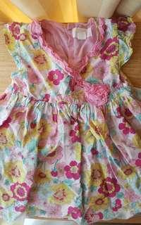 Pumpkin Patch floral dress Like New