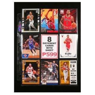Derrick Rose 8 Different Basketball Cards NBA All-Star