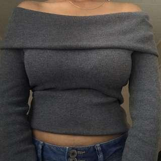 Mirrou - Small Off the shoulder top (Grey)