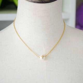 Tory Burch Necklace 珍珠頸鏈金色