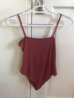 Old rose bodysuit