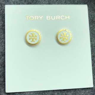 Tory Burch Earrings white/gold 白色拼金色耳環