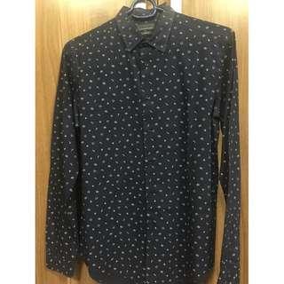 Zara Man slim fit long sleeves navy blue SRP P2,595 M