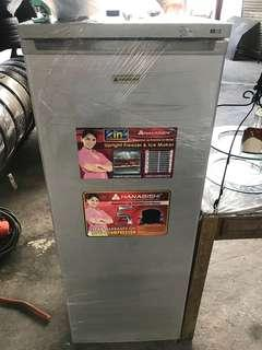 Hanabishi upright freezer and ice maker