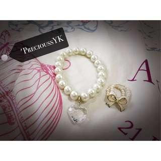 Bracelet +ribbon ring (FREE MAILING )