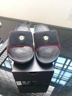Air Jordan Hydro 7 Retro 14 XIV Last Shot Black Red Yellow Ferrari Mens Slippers Slides