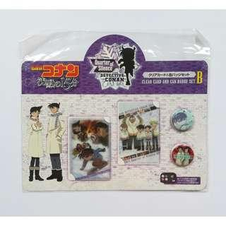 Detective Conan: Quarter of Silence - Clear Card & Can Badge Set