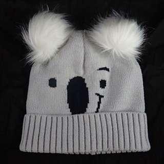 🐨 Hollister海報美國主打款2018冬Koala Double Pom-Pom Beanie樹熊考拉波波冷帽針織帽HCO Gilly Hicks hat A&F Abercrombie & Fitch AF AEO