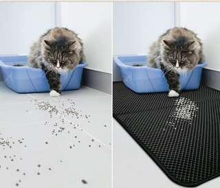 Foldable Grey Cat Trapping Mat Sand Litter box Special Offer Xlarge @$20