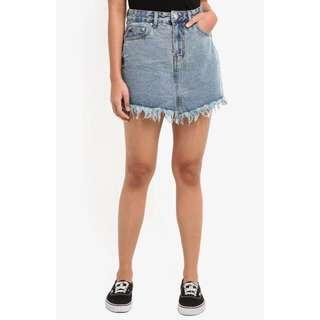 BN Chrissy Fray Edge Denim Skirt