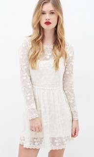 Zara floral embroidered lace dress