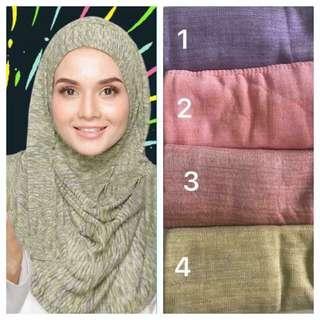 Instock instant travel Tudung hijab shawl