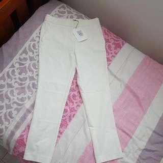Witchery Off White Slim Cropped Pants