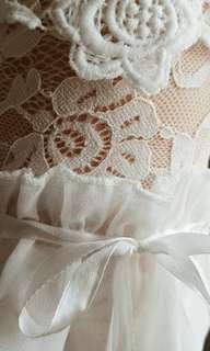 Off shoulder lace top