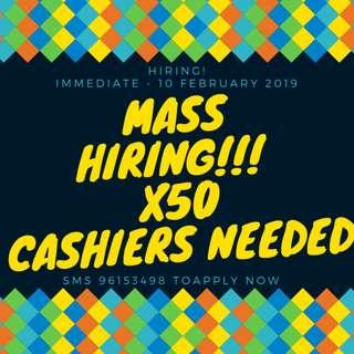 MASS HIRING: x50 Cashers Needed | Location @ EAST