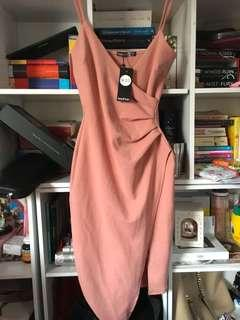 Size M dusty pink wrap dress