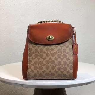 COACH 38585 女士新款後背包 多用款式 容量大 時尚潮流 附購證