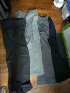 Four flare pants or bell bottom pants