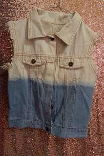 jaket jeans ombre tank