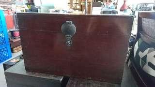 Vintage Solid Wood Teak Trunk