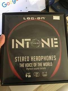 Headphone Log On Intone Stereo Bass Universal
