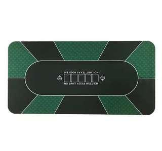 🚚 Green and black suited rectangular poker rubber mat