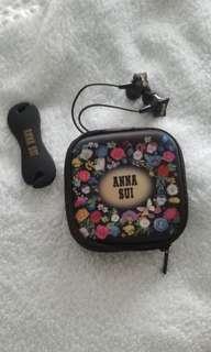 全新 Anna Sui 蝴蝶耳機套裝 (包郵)
