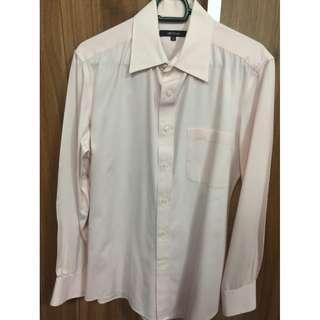 G2000 mens light pink regular fit long sleeves 15.5/33.5