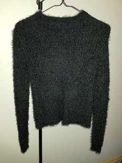 Black Fluffly jumper size 6