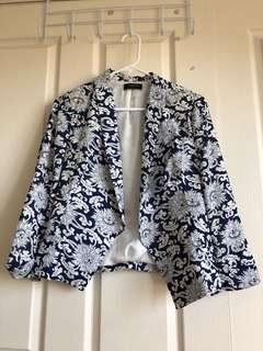 Blazer Navy & White