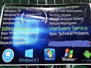 Computer, Cellphone, Software Services