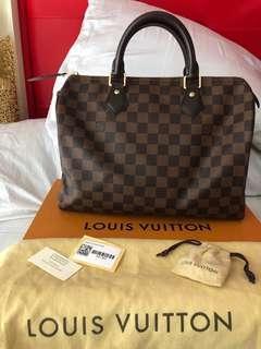 💯%Original LV Bag Speedy Damier size 30