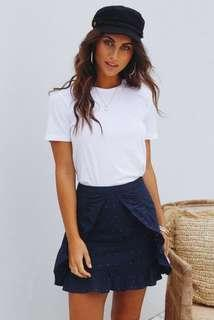 JAMIE MY LOVE Palawan Party Skirt, Navy, Size XS or 6, BNWT, RRP $60