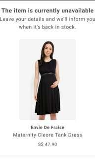 BNWOT Envie De Fraise Maternity Dress