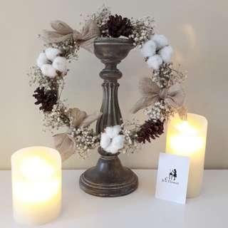 Floral Wreath Christmas Hiasan Dinding Gantung Cantik